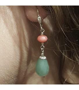 Boucles d'oreilles verte