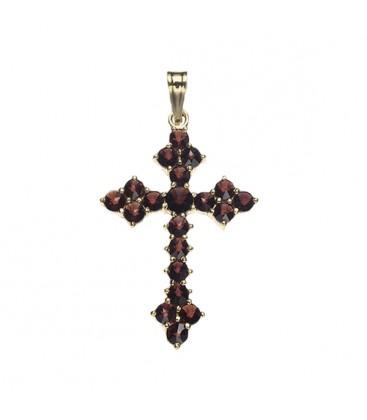 Pendentif croix grenat