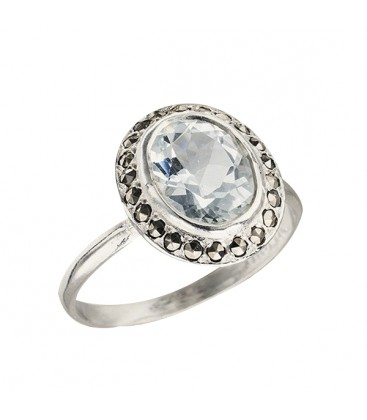 Bague Callas aigue marine
