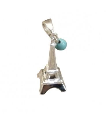 """Pendentif La Tour Eiffel """"La vie en bleu"""""""