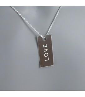 "Pendentif Message ""Love"""